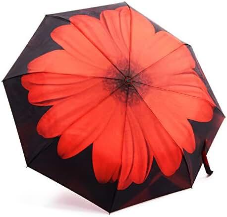 Umbrella,Oak Leaf Windproof Automatic Compact Rain Travel Umbrella,Lightweight,Auto Open/Close