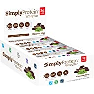 SimplyProtein Whey Bar, Chocolate Mint, Pack of 12, Gluten Free