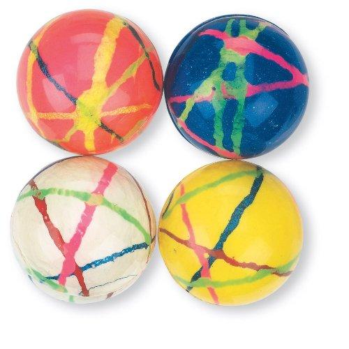 30mm Multi-colored Doodle Bouncing Balls - 48 per Pack Doodle Balls