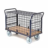 Euro Style Wire Security Deck Truck, 48 x 24, 1200 Lb. Capacity