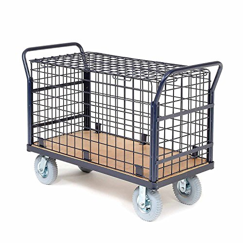 Euro Style Wire Security Deck Truck, 60 x 30, 1200 Lb. Capacity