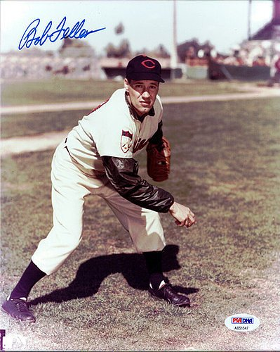 Bob Feller Signed 8x10 Photograph Cleveland Indians - Certified Genuine Autograph By PSA/DNA - Autographed Photo