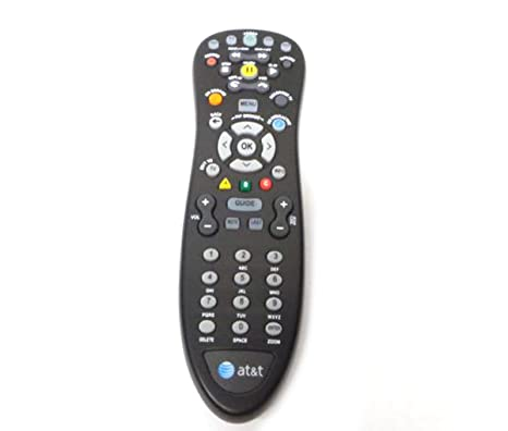 Genuine AT&T U-Verse Uverse S10-S4 Standard IR Infrared Multifunctional  Digital DVR TV Television Universal Cable Box Black Remote Control  Compatible
