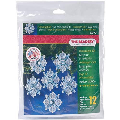 Beadery BOK-5977 Holiday Beaded Ornament Kit, Filagree Snowflake, 1.75-Inch. Makes 12