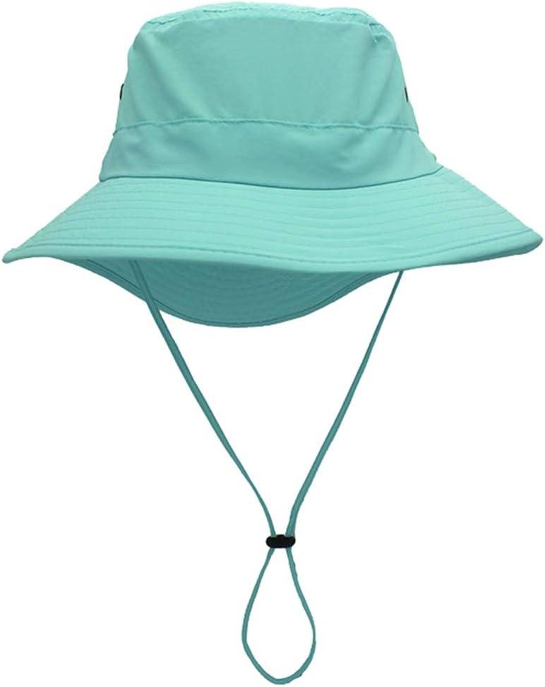Ommda dames effen kleur brede rand zomer emmer hoed katoen