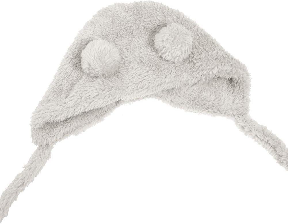 dorisdoll Baby Hat Winter Beanie Earflaps Warm Fluffy Cute Bear Cap Soft Fleece Lining Hats for Toddler Infant Boys Girls Kids 2-36 Months Unisex Pink