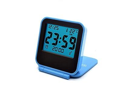 Xifande Mini Flip Night Light Reloj Digital Creative Termómetro Plegable Mute Fashion LCD Reloj Electrónico Compacto