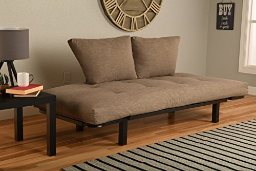 Kodiak Best Futon Lounger - Mattress ONLY - Sit Lounge Sleep - Small Furniture for College Dorm, Bedroom Studio Apartment Guest Room Covered Patio Porch (TAN Stone Linen) (Covered Patio Stone)
