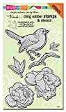 STAMPENDOUS Bird Blossom Rubber Stamp Set Cling
