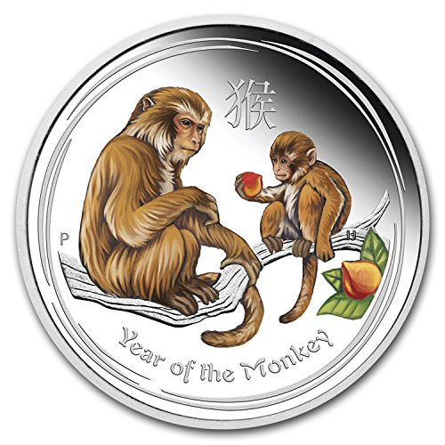 2016 AU Australia 1/2 oz Silver Lunar Monkey Proof (Colorized) Silver Brilliant Uncirculated