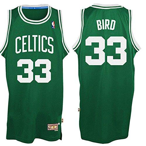33 Larry Bird Boston Celtics Mens Road Swingman Jersey Kelly Green color (33 Boston Celtics Jersey)
