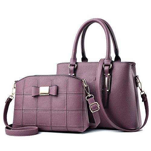 YANJJ Bag Sac à Main à à 2 Messenger Pièces Bandoulière Sac Purple2 PU En Cuir Sac Nouveau Provisions qqP5dRwxr