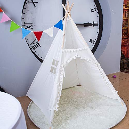 xiaowantong 2019 New Children Indoor Teepee Kids Play Tent (Lace Hair Ball)