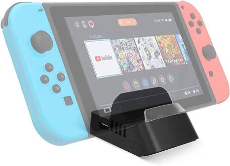 AIEVE Soporte de carga para Nintendo Switch, estación de acoplamiento con enfriamiento automático para Nintendo Switch, consola de soporte de adaptador HDMI y modo TV (Negro): Amazon.es: Videojuegos
