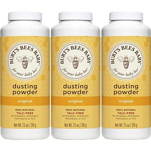 Burt's Bees Baby 100% Natural Dusting Powder, Talc-Free Baby Powder - 7.5 Ounce Bottle (Pack of 3) Talc Body Powder