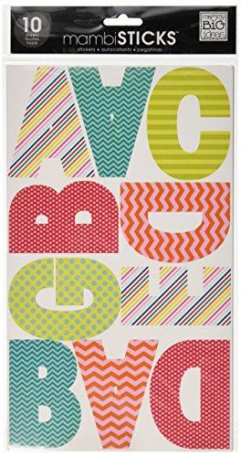 me & my BIG ideas Garde Patterned AV Alphabet Stickers, Large, 10 Sheet