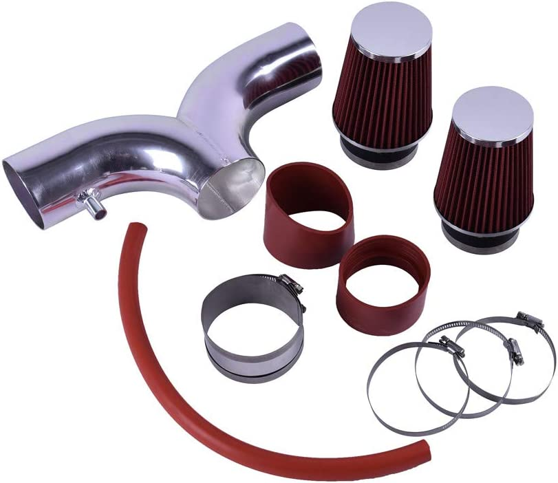 Replacement Parts ACUMSTE Dual Ram Air Intake Kit with Red Filter ...