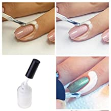 White Nail Peel Off Liquid Tape, Nail Art Decoration 15ml. Very easy to peel off ! [version:x9.3] by DELIAWINTERFEL