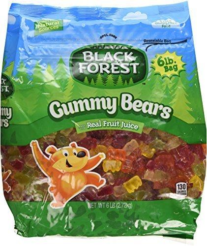 Black Forest Gummy Bears Ferrara Candy - 6 Pound Bag (2 Units Per Order) (Lb Bag 6)