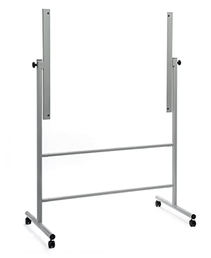 Audio Visual Direct Glass Dry Erase Board Mobile Stand 35 1 2 X 47 1 4 Board Size Stand Only Does Not Include Board