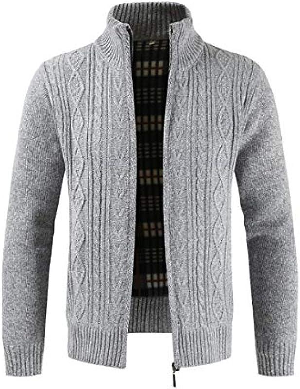 NDLENG Autumn Cardigan Men Sweaters Dicker Warmer Strickpullover Męskiejacken Mäntel Męskiebekleidung Freizeitstrickwaren: Odzież