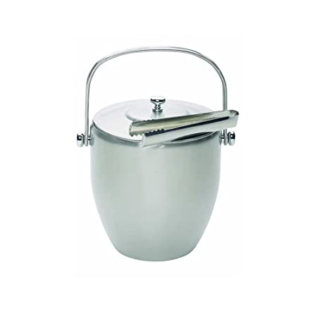 stainless steel ice bucket. Kitchen Craft Barcraft Stainless Steel Ice Bucket With Lid \u0026 Tongs- Gift Boxed