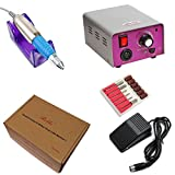 Belle 20,000 RPM Manicure Pedicure Electric Nail Drill File Machine With Foot Pedal