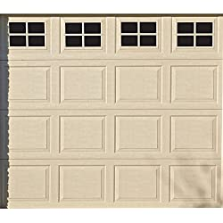 Household Essentials 216 Magnetic Faux Garage Door Windows | 16 Pieces for Single Car Steel Garage Door| Black