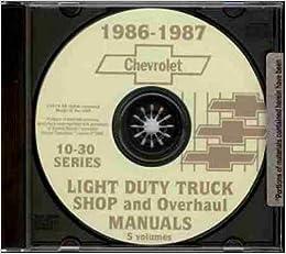 1986 1987 chevy pickup & truck repair shop & service manual cd - includes �  ton, � ton & 1 ton chevy c, k, g & p trucks, blazer, suburban, pickup  models