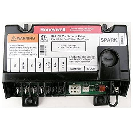 replacement for honeywell furnace integrated pilot module ignition control circuit board s8600f 1000 Honeywell S8610U Wiring