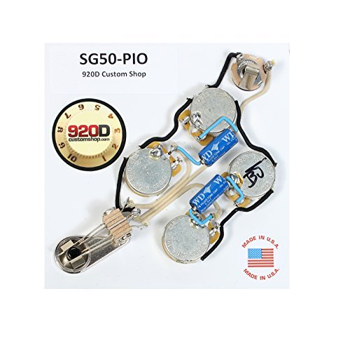 920D Custom SG50-PIO Upgraded Replacement Wiring for Gibson SG Style Guitars