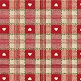 THE TABLECLOTH SHOP Hearts Red Vinyl Wipe Clean Tablecloth 1.4m Round