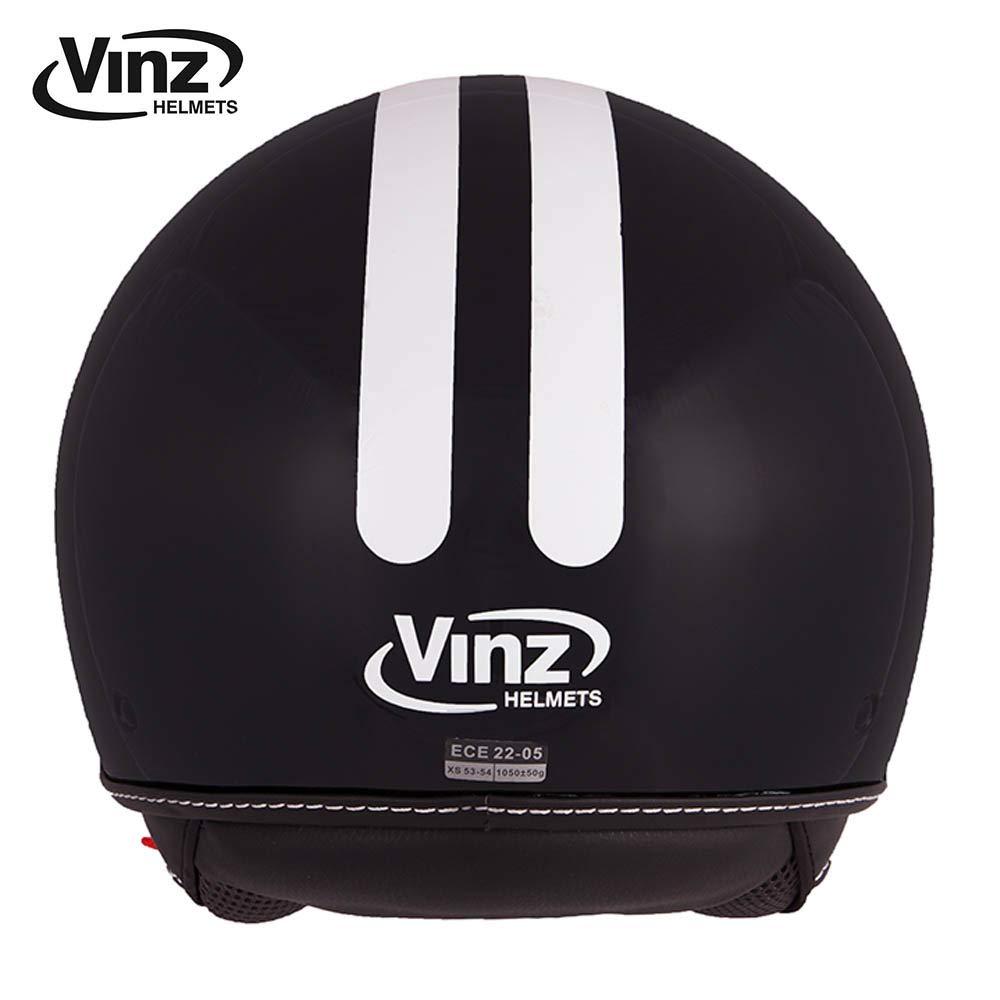 in Gr M, Rot ECE zertifiziert Roller Jet Helm mit Streifen XS-XL Vinz Rollerhelm Jethelm Fashionhelm Motorradhelm mit Visier