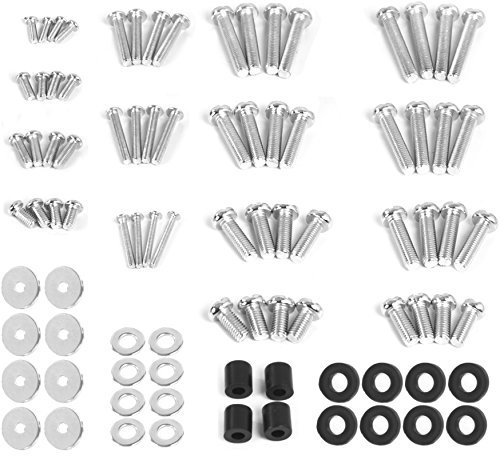 Universal Screw - VIVO M4 M5 M6 M8 Universal TV & Monitor Mounting VESA Hardware Kit Set Includes Screws, Washers, Spacers | Assortment Pack Fits Most Screens up to 80