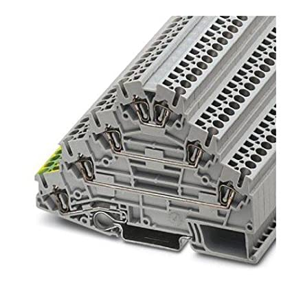 Amazon com: DIN Rail Terminal Blocks ST 2 5-PE/3L