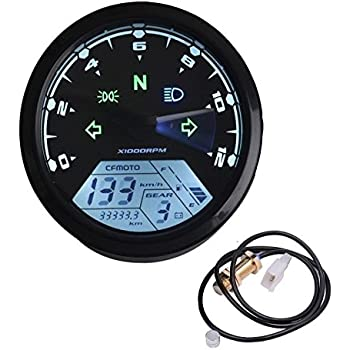 Amazon iztoss mphkmh 124mph199kmh 12000 rpm lcd digital ambuker 199 kmh mph 12000 rpm lcd digital speedometer tachometer odometer kmh for honda motorcycle sctoor golf carts atv cheapraybanclubmaster Image collections