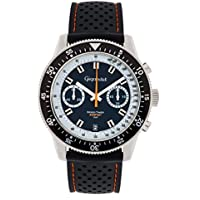 Gigandet Men's Quartz Watch Speed Timer Chronograph Analog Silicone Strap Silver Blue G7-001