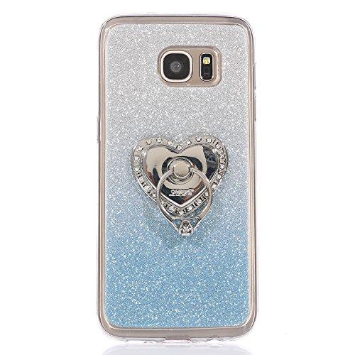 Funda para Galaxy S6 Edge, funda de silicona transparente para Galaxy S6 Edge, Galaxy S6 Edge Case Cover Skin Shell Carcasa Funda, Ukayfe caso de la cubierta de la caja protectora del caso de goma Ult Color 13