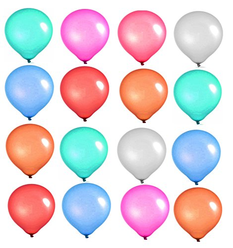 Elecrainbow 10 Inch Multicolor Balloons, Round Matte Balloons for Party Decoration, Birthday, Wedding, Holiday, Balloon Arch Modeling, Pack of 100 ()