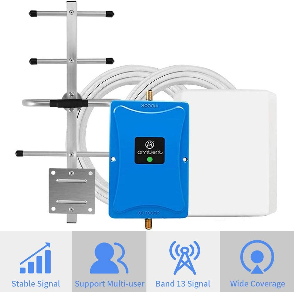 Verizon 4G Cell Phone Signal Booster for Home and Office - Enhance Your Data and Voice Over LTE by 700MHz Band 13 Signal Repeater and Panel/Yagi Antennas - Extend Coverage Up to 4,500Sq Ft