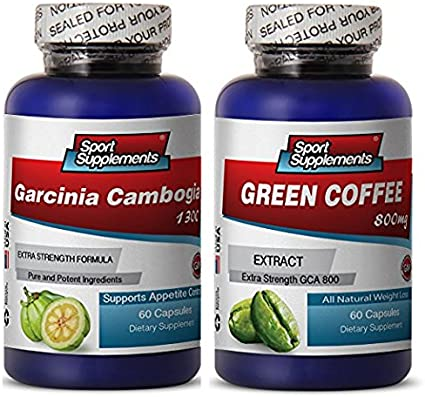 Amazon Com Green Coffee Cleanse Ultra And Garcinia Cambogia Plus Green Coffee Cleanse 800mg Natural Green