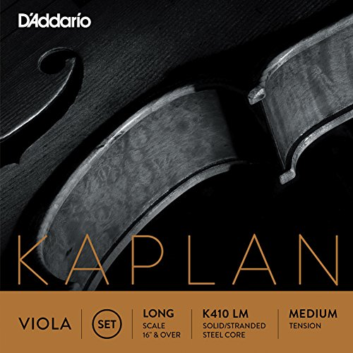 D'Addario Kaplan Viola String Set, Long Scale, Medium Tension (Prelude Viola Strings compare prices)