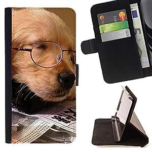 - Golden Retriever Dog Paws/ Personalizada del estilo del dise???¡Ào de la PU Caso de encargo del cuero del tir????n del soporte d - Cao - For Samsung Galaxy S4 IV I9500