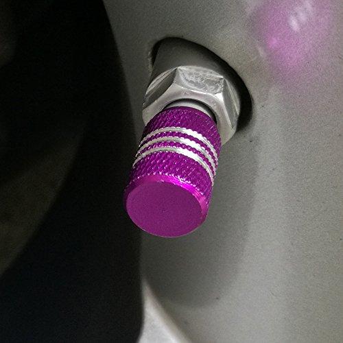 SENZEAL 5 x en alliage d'aluminium Argent autour de bouchons de valve