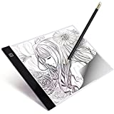 LVEDU A4 LED Light Box Tracer Ultra-thin USB Powered Portable Dimmable Brightness LED Artcraft Tracing Light Pad Light Box for Artists Drawing Sketching Animation Designing Stencilling X-ray Viewing