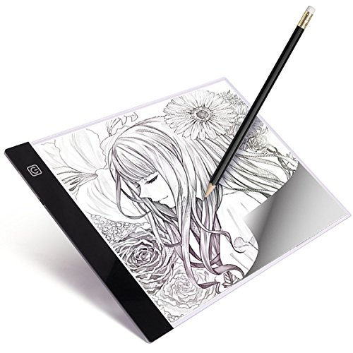 Brooke Acrylic (lYonge A4 Ultra-thin LED Light Box Tracer, USB Powered Portable Dimmable Brightness LED Artcraft Tracing Light Pad for Artists Drawing Sketching Animation Designing Stencilling(Children's Day Gift))