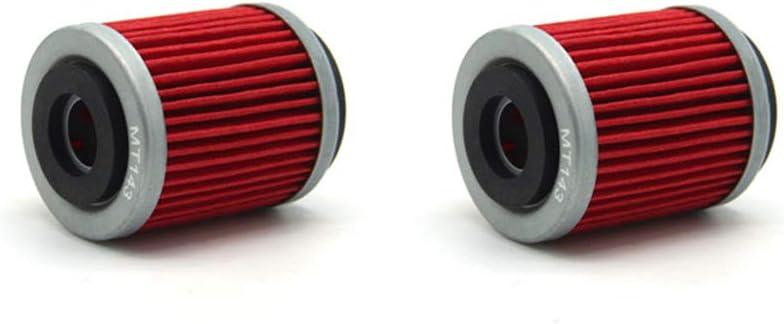 MEXITAL 2pcs Filtre /à huile pour YAMAHA SR125 125 SR125SE 125 1987 1980-1999 SR185 185 SRX250 250 2000-2002 1981-1982