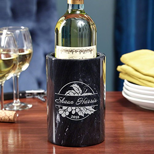 (Rhone Valley Engraved Marble Wine Chiller)