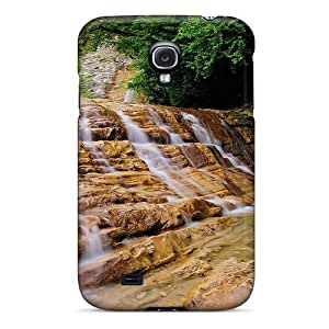 HTC One M7 Protector Case Fantastic Waterfall Over Rock Steps Phone Cover