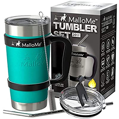 Yeti Tumbler Rambler RTIC Coffee Travel Cup Stainless Steel Vacuum Insulated 6-Piece Set, 30 oz